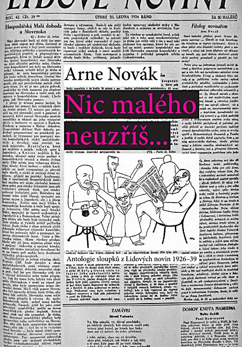 Nic malého neuzříš... Antologie sloupků z Lidových novin 1926-39